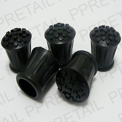 £3.45 • Buy 4x BLACK RUBBER FERRULES Walking Cane 25mm Feet Chair Table Leg Large Protector