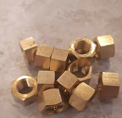 £5.21 • Buy Imperial Brass Exhaust Manifold Nuts High Temperature 1/4  5/16  3/8  UNF / UNC
