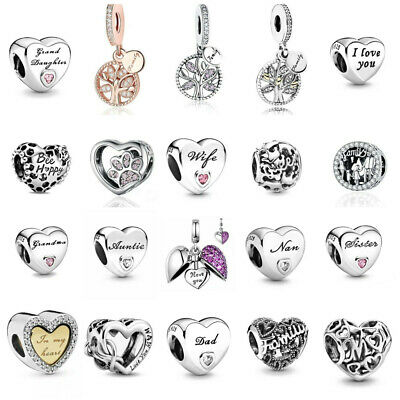 £9.98 • Buy New Genuine Silver Pandora Moments Daughter Wife Auntie Mum Charms S925 Ale