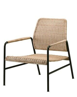 Accent Chair Ikea Anthricite Rattan Arm Chair • 135.99£