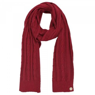 £4.99 • Buy Regatta Womens Multimix II Cable Knit Warm Winter Scarf Red RRP £25