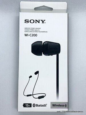 AU26.64 • Buy New Sony Wi-c200 Wireless Stereo Hadset Color: Black Fast Free Shipping