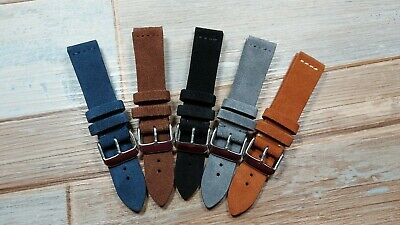 The Suede  Premium Suede Leather Watch Strap. VARIOUS COLOURS AND SIZES. • 14.99£