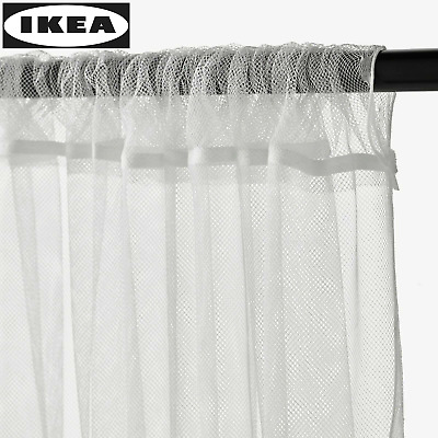 IKEA LILL Curtains Sheer Net White 2 Panels 110x98  Canopy Room Divider - NEW • 7.15£