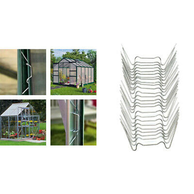 25-Piece W Shape Glazing Clips Stainless Steel Accessories For Greenhouse • 3.48£