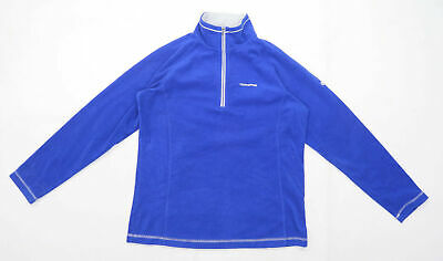 Craghoppers Womens Size 12 Fleece Blue Zip Up Jacket • 10£