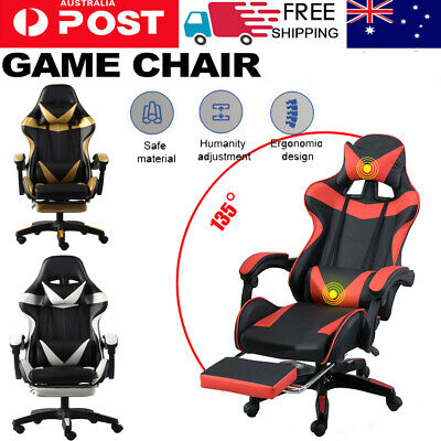 AU109 • Buy Gaming Chair Office Executive Computer Chairs 360°Swivel Racing Recliner AU