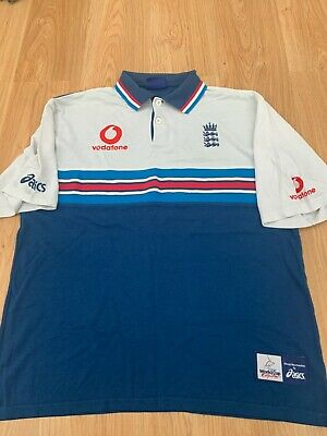VTG Large Mens England One Day Cricket Polo Shirt World Cup 99 1999 By Asics 99p • 6.50£