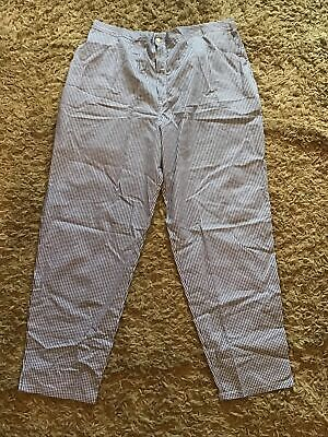 Alexandra Workwear HF785T Chef Catering Blue White Checked Trousers Sz 30 Ladies • 4£