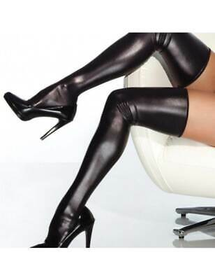 £9.99 • Buy Thigh High Black Leather Look Stockings