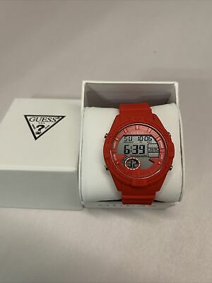 $ CDN63.44 • Buy Guess Women's Digi Pop U1281L3 Red Silicone Digital Sport Watch NWT