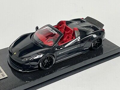 1/18 Ferrari 458 Spider Liberty Walk LB Performance In Black  N BBR  MR  V2 • 363.73£