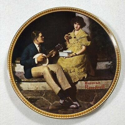 $ CDN30.58 • Buy RAS Certified Limited Vintage Norman Rockwell Porcelain Plate Rediscovered Women