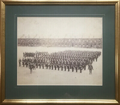 Military Photo - World War 1 - Lancashire Fusiliers Parade In Premium Gold Frame • 21£