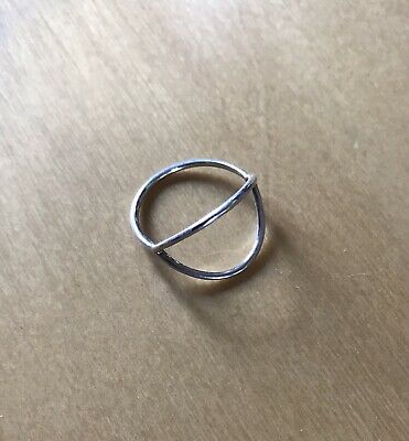 AU95 • Buy RARE As New Sarah & Sebastian Sterling Silver 925 Half Circle RING RRP$145