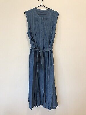 AU195 • Buy RARE New Scanlan & Theodore Denim Jeans Cotton Blue DRESS RRP$690 SOLD OUT