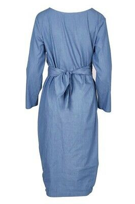 AU195 • Buy RARE New Scanlan & Theodore Denim Cotton Blue DRESS RRP$650 SOLD OUT