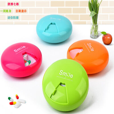 AU3.32 • Buy Weekly Daily Pill Box Organiser Medicine Tablet Storage Dispenser For 7 Day CS