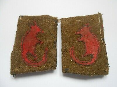 £140 • Buy 2ww Cloth Formation Sign Patches  Of The 7th Armoured Division Desert Rats