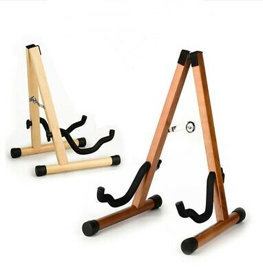 $ CDN35.53 • Buy Wooden Guitar Stand For Electric Bass Classical Portable A-Frame Travel Outdoor