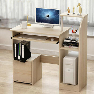 Home Small Computer Desk Shelf Tray Corner PC Table Laptop Study Office Cabinet • 65.99£