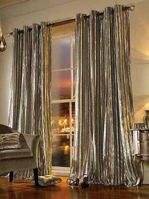 Kylie Minogue Iliana Lined Eyelet Curtains Praline 168 X 183 Cm 66 X 72 Inches • 74.99£