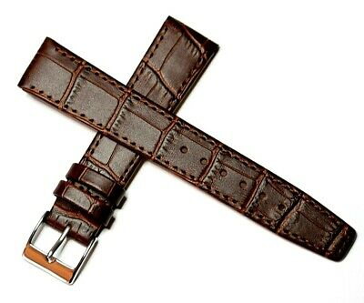 £9.95 • Buy EASY FIT CLIP ON OPEN ENDED GENUINE LEATHER WATCH STRAP BROWN 12MM To 20MM