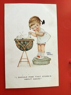 $6.89 • Buy MABEL LUCIE ATTWELL That STORK IS ABOUT AGAIN Rare Early 1920s POSTCARD