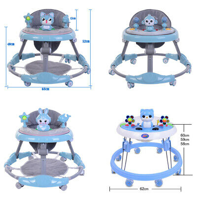 Baby Walker For Boys Push Bouncer Activity Musical Melody Along Ride On Toy Blue • 28.90£