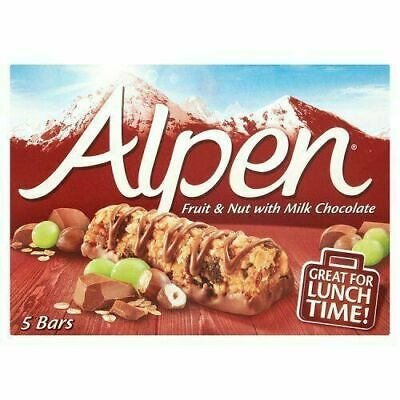£10.60 • Buy Alpen Fruit & Nut With Chocolate Cereal Bars 5 Pack 29g
