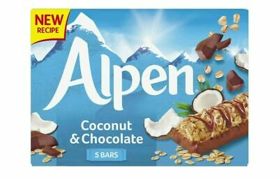 £10.60 • Buy Alpen Cereal Bars Coconut And Chocolate, 29g Pack Of 5