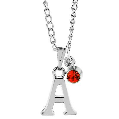 £2.65 • Buy Birthstone Necklace July Silver Plated Initial Letter Alphabet A-Z 18