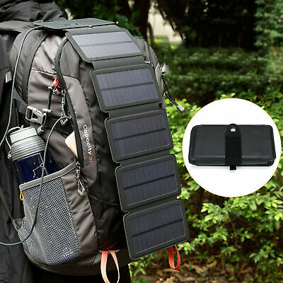 AU36.58 • Buy Portable Solar Mobile Phone Charger Panel Power Bank Waterproof Outdoor Camping