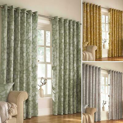 £33.95 • Buy Irwin Eyelet Curtains Woodland Print Ready Made Ring Top Curtain Pairs By Furn.