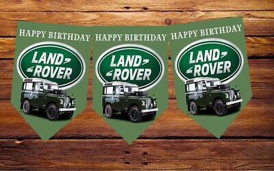 Happy Birthday Bunting 12flags Decoration Land Rover Party Dad Bother Mum Sister • 6.39£