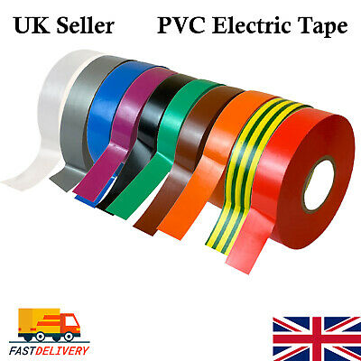 £1.88 • Buy PVC Electrical Insulating Tape Flame Retardant Insulation Tapes 19mm All Colours