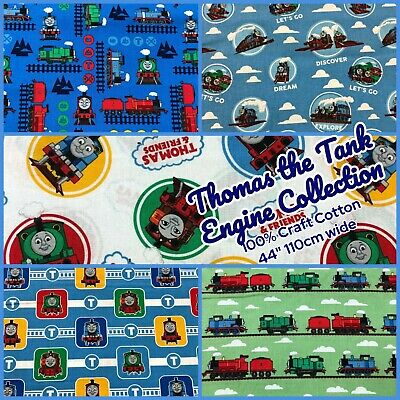 £11.95 • Buy Thomas The Tank Engine Collection - 100% Craft Cotton Fabric - 44  110cm Wide