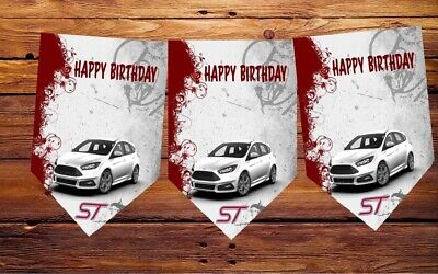 Birthday Bunting , Ford Focus ST, Occasion ,  Party Decoration 12flags Car • 6.49£