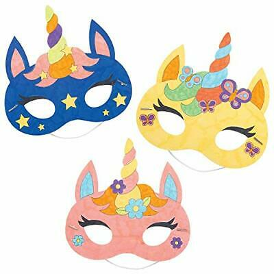 £10.99 • Buy AT309 Unicorn Masks-Pack Of 8, Colour Costumes For Kids Arts And