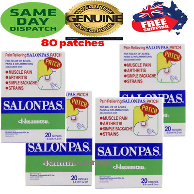 AU16.99 • Buy Salonpas Patch Hisamitsu Pain Relieving  - Made In Vietnam 6 Boxes 72 Patches
