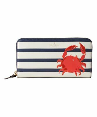 $ CDN188.26 • Buy ❤️ $238 KATE SPADE Shore Thing Lacey Crab Leather Accordion Zip Wallet NWT ❤