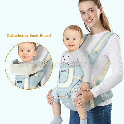 Ergonomic Adjustable Baby Carrier Waist Stool Hipseat Front Infant Support  • 19.99£