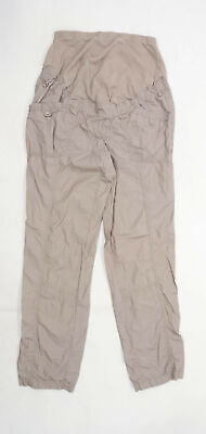 £10 • Buy Womens Yessica Brown Maternity Cargo Trousers Size W32/L29