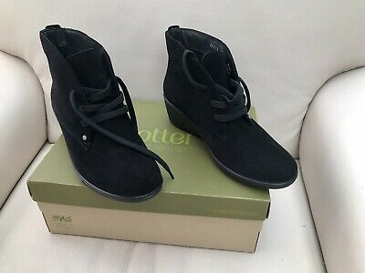 HOTTER Black Suede Boots Size UK 5 Eu 38  New RRP £95 • 29.99£