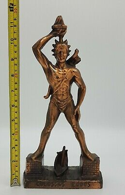 Vintage Large 30cms Colossus Of Rhodes Ancient Greek Mythology Statue Figurine • 27.90£