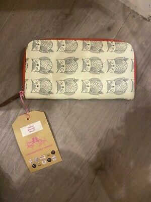WAREHOUSE CLEARANCE Pink Lining Changing Bag Wallet/Purse - Wise Owl • 4.99£