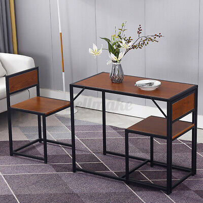 Compact 2 Seater Kitchen Dining Table And Chairs Space Saving Furniture Set New • 68.79£