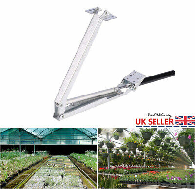Greenhouse Window Stay Kit Roof Vent Solar Heat Sensitive Auto Opener Bar New • 20.55£