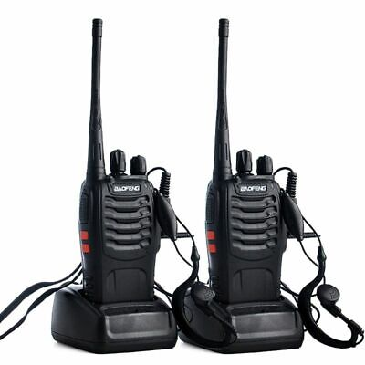 $ CDN69.94 • Buy 2 Pieces Walkie Talkie Long Range 2-Way Radio UHF 400-470MHZ 16CH And Earpiece