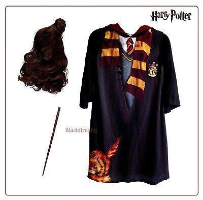 $ CDN51.14 • Buy Harry Potter Hermione Granger Fancy Dress Costume Wig Wand Character Outfit Book